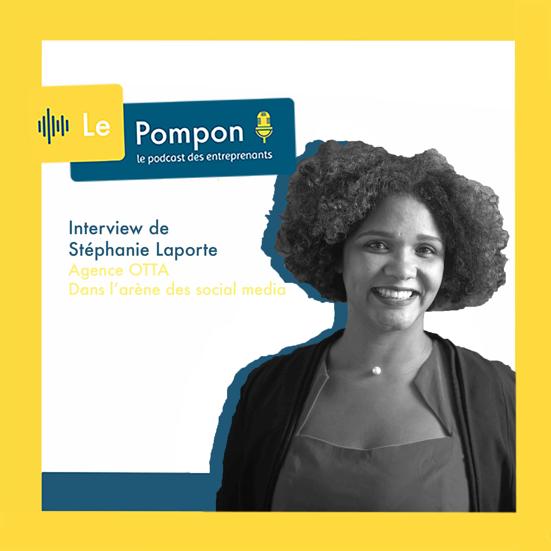 Illustration de l'épisode 2 du Podcast Le Pompon : Stéphanie Laporte, Agence OTTA
