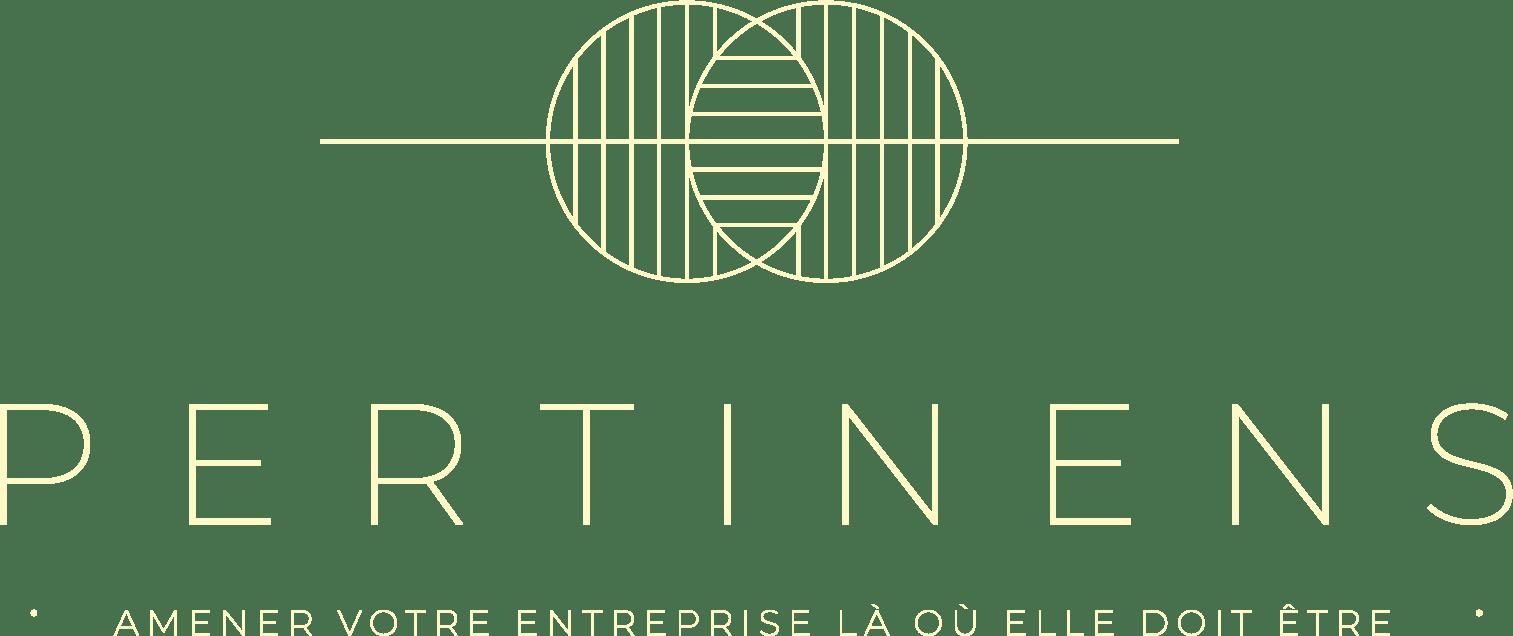 Logo de l'agence Pertinens spécialisée dans le conseil en marketing digital qui aide les entrepreneurs à atteindre leurs ambitions de développement.