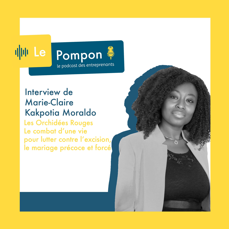 Illustration de l'épisode 47 du Podcast Le Pompon : Marie Claire Kakpotia Moraldo, Les Orchidées Rouges