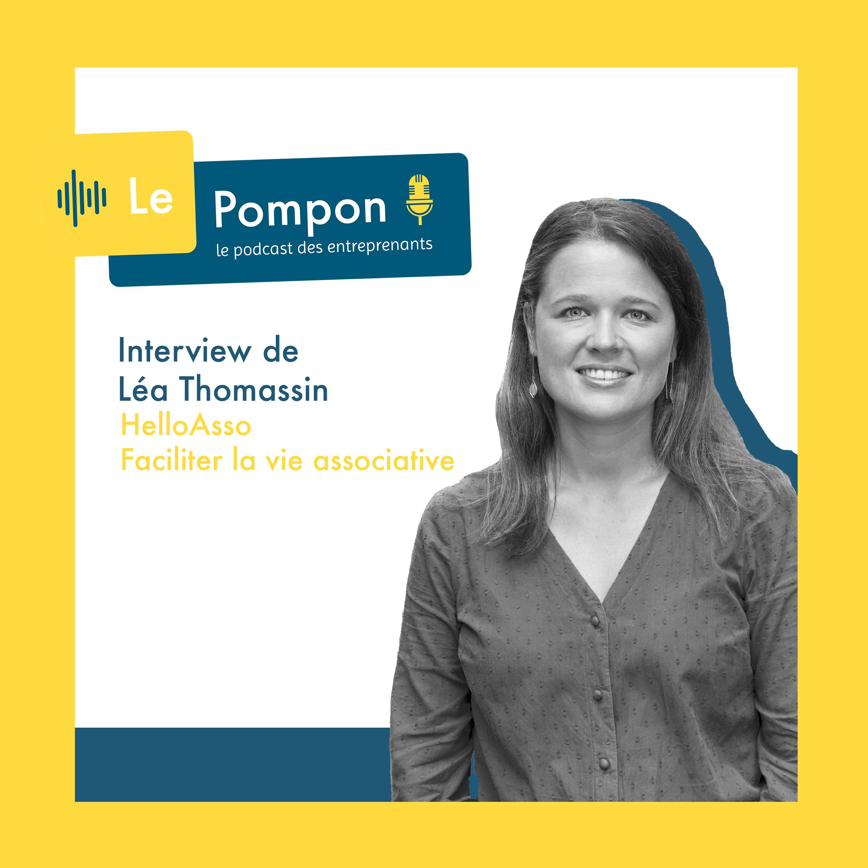 Illustration de l'épisode 55 du Podcast Le Pompon : Léa Thomassin, HelloAsso